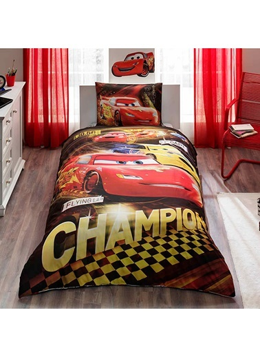 Lisanslı Cars Champions Tek Kişilik Nevresim Takımı-TAÇ